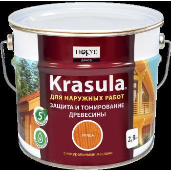 Защитно-декоративный состав «KRASULA®» цвет - белый (3 л.)