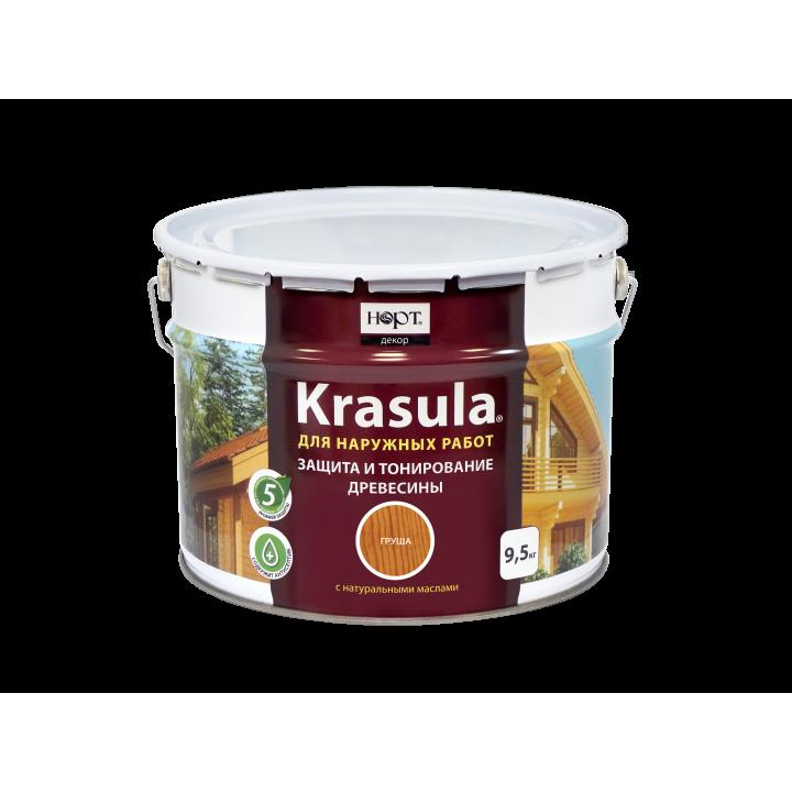 Защитно-декоративный состав «KRASULA®» цвет - темный орех (10 л.)