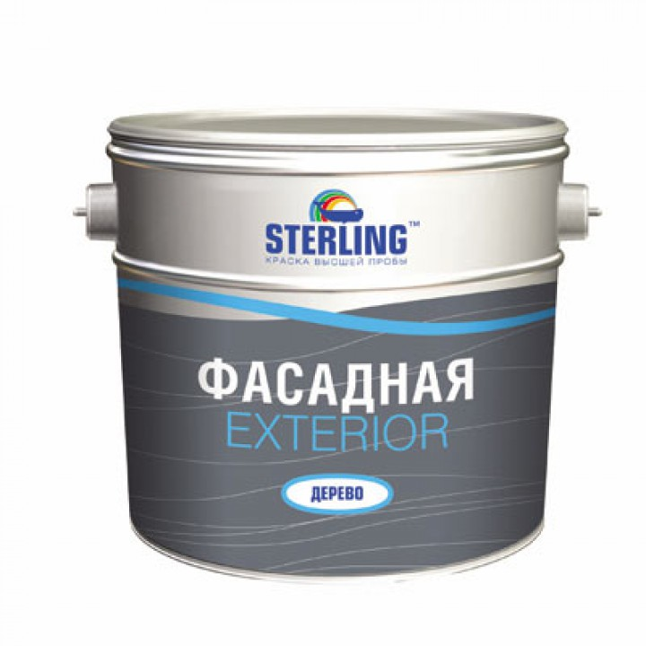 Краска фасадная STERLING ® Экстериор Дерево Полуматовая ВД-АК-112 (база С)
