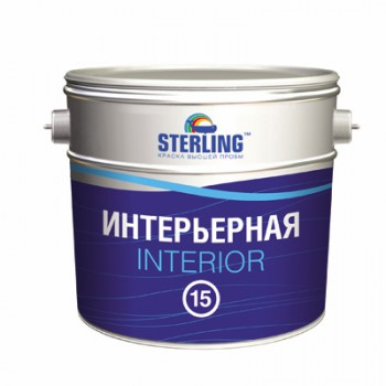 Краска STERLING ® Интериор 15 Полуматовая ВД-АК-205 (база А)