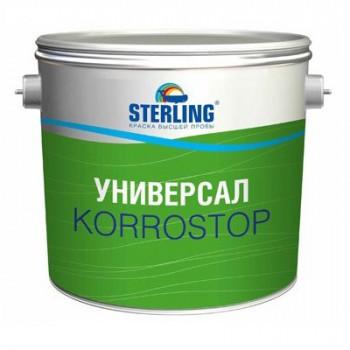 Грунт-краска алкидная STERLING ® Универсал КОРРОСТОП 30 Полуматовая ПФ-118 (база С)