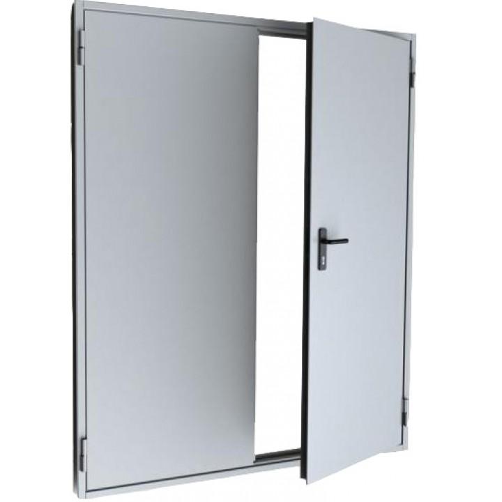 Двупольная противопожарная дымогазонепроницаемая металлическая дверь EIS-60