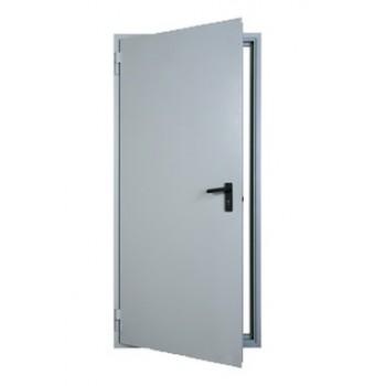 Однопольная противопожарная дымогазонепроницаемая металлическая дверь EIS-60