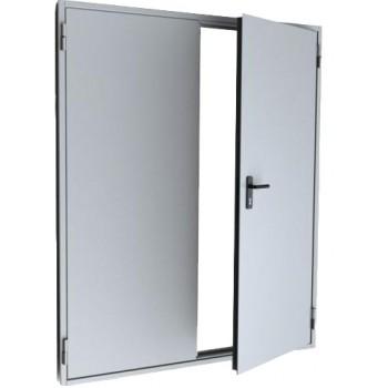 Двупольная противопожарная дымогазонепроницаемая металлическая дверь EIS-30
