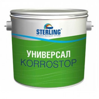 Грунт-краска алкидная STERLING ® Универсал КОРРОСТОП 30 Полуматовая ПФ-118 (база А)