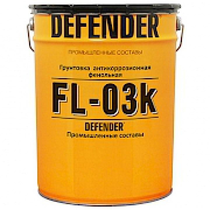 Грунт фенольный по металлу DEFENDER®  ФЛ-03К (красно-коричневый)