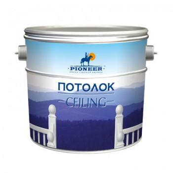 Краска PIONEER ® для потолков Матовая супербелая ВД-АК-210
